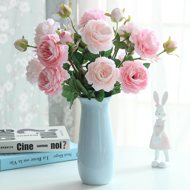 小清新陶瓷北欧花瓶现代简约干花鲜花客厅餐桌家居瓷器装饰品摆件 Изображение 1