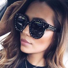个性满天五角星果冻色太阳镜时尚炫彩海洋片墨镜可爱俏皮眼镜5035图片
