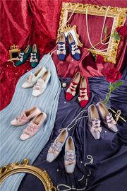 【尾款页面】温莎庄园系列-玛格丽特茶会鞋子3团Jellyfish-Lolita