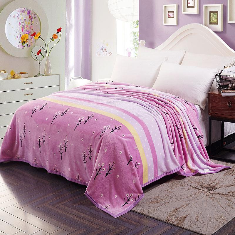 Cloud mink blanket cover blanket warm bed sheet double winter air conditioning blanket coral blanket lunch break