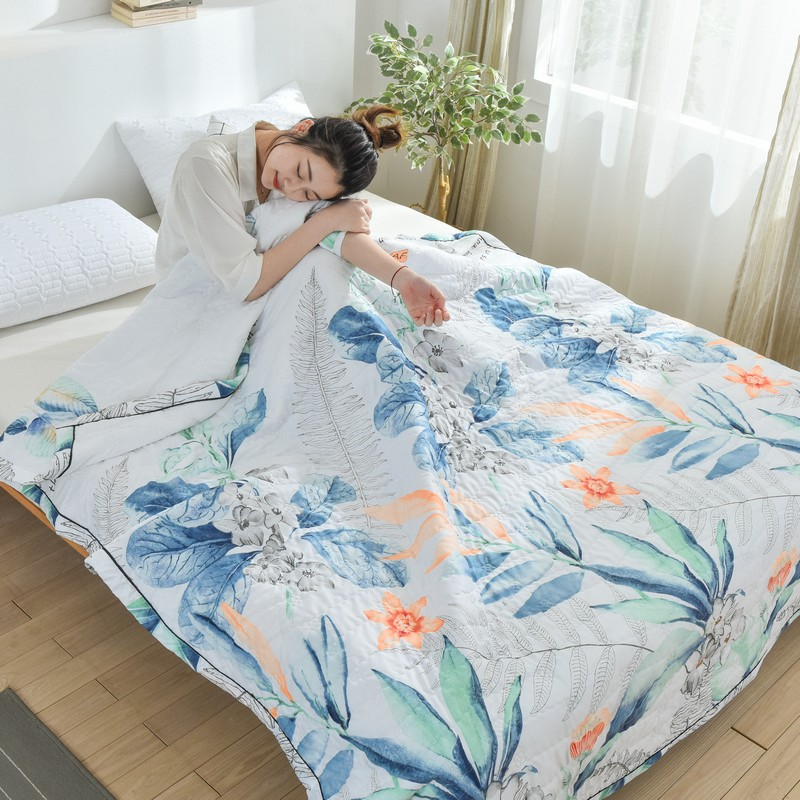 J. jahrs water washed cotton quilted summer cool quilt - Nordic style summer quilt double thin