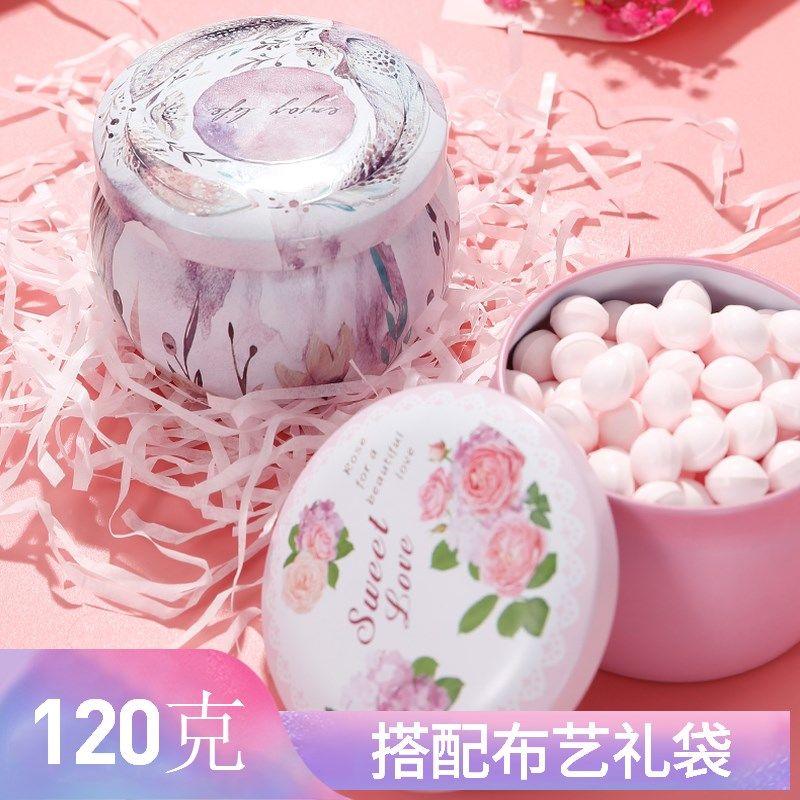 玫瑰吐息糖香体糖约会糖接吻糖持久 新年礼物节日糖果120克
