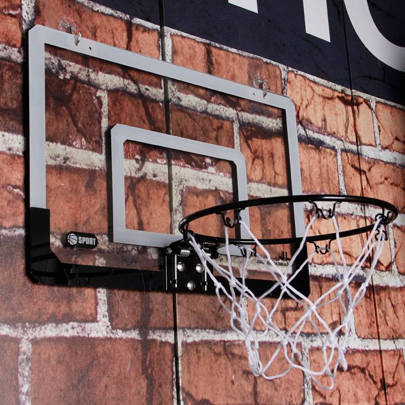 Dormitory basketball board indoor and outdoor ball rack frame wall attached to wall childrens hoop childrens hanging basket home throwing and dunking machine