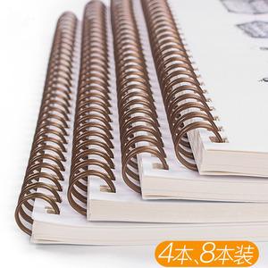 笔记本子线圈线环环扣记录册少女学习纸张文艺便携商务女学生读书