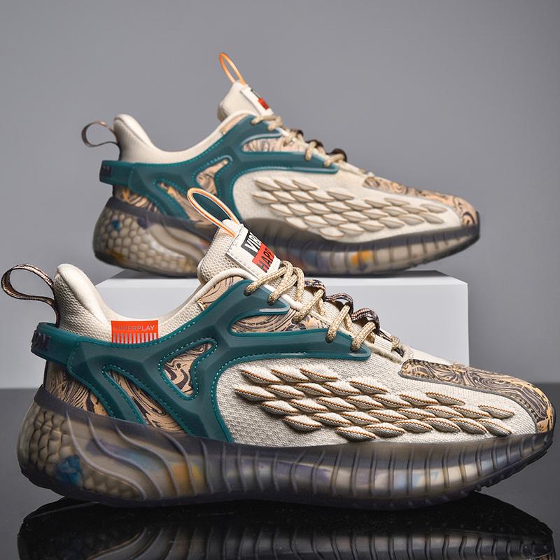 タオバオ仕入れ代行-ibuy99 男士鞋子 鞋子男夏季透气休闲2021年新款跑鞋真恩椰子国潮运动秋季男士潮鞋