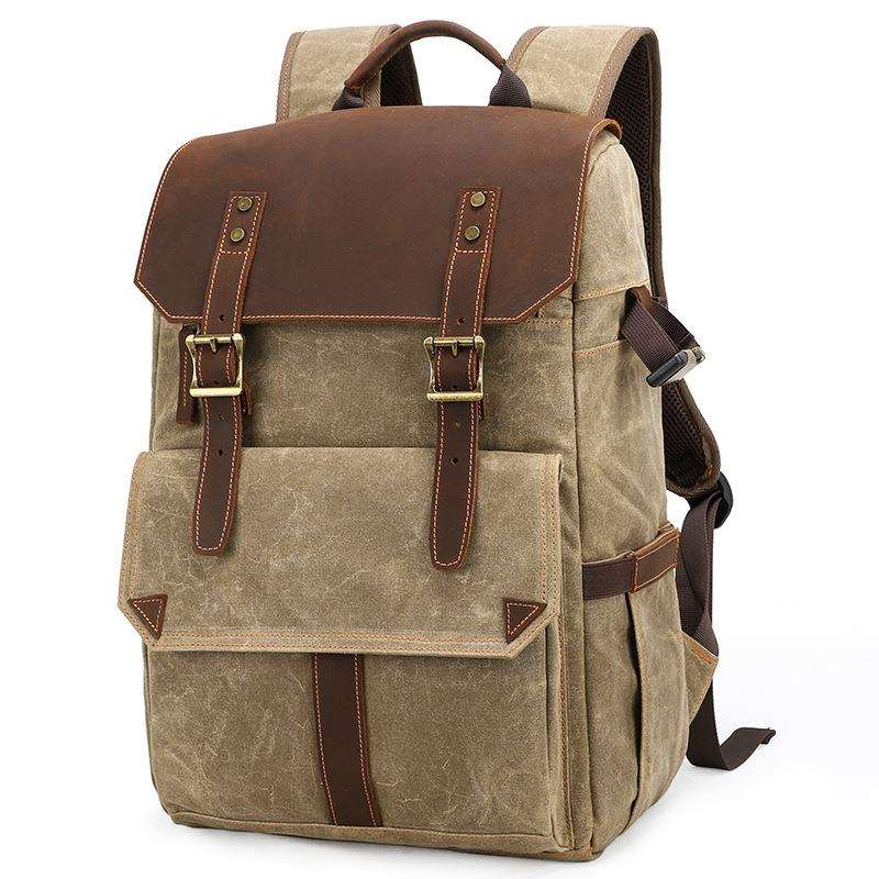Retro portable backpack for men and women