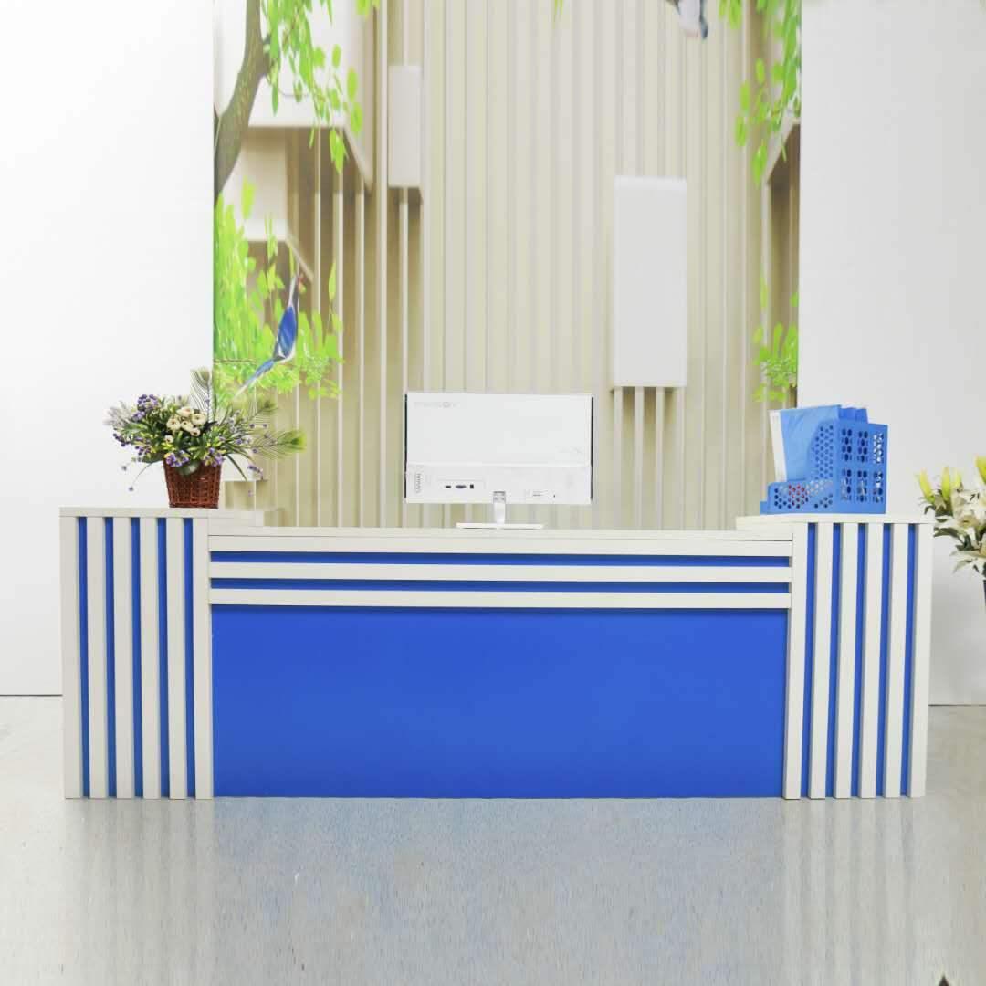 紫豪柜台便利店台收银台家具前台接待服装店超市收银台前台桌