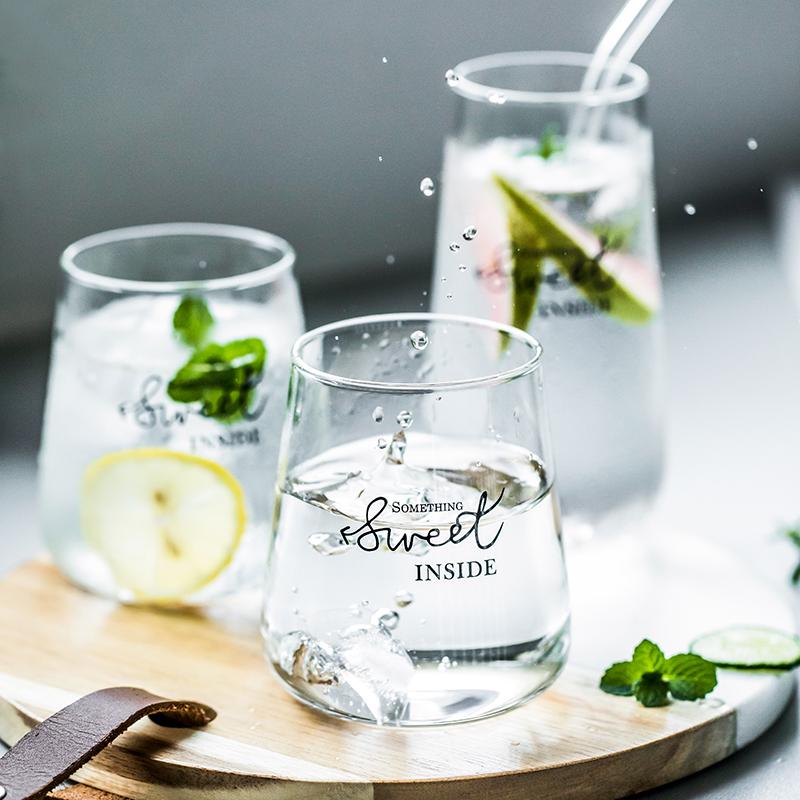 新居意日式玻璃杯家用简约水杯女创意抖音网红学生杯子森系宜家杯