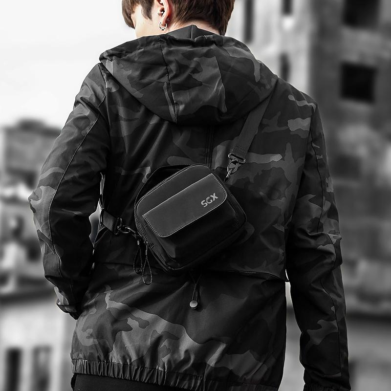 Cross carrying one shoulder Mini Bag mens hip hop bag small hanging bag mobile phone bag leisure backpack womens trendy brand tiaodi bag