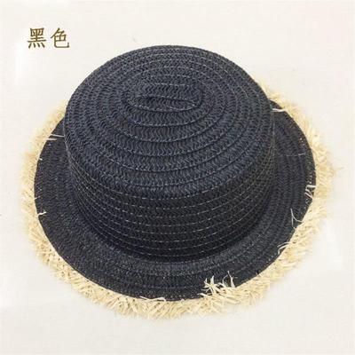 【买一送一】雪梨同款帽子女大檐毛边透气草帽夏季遮阳防晒渔夫帽