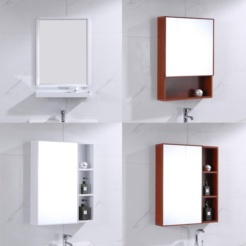 现代简约太空铝镜柜挂墙式小户型卫生间浴室柜镜子壁挂厕所洗手间(用1元券)