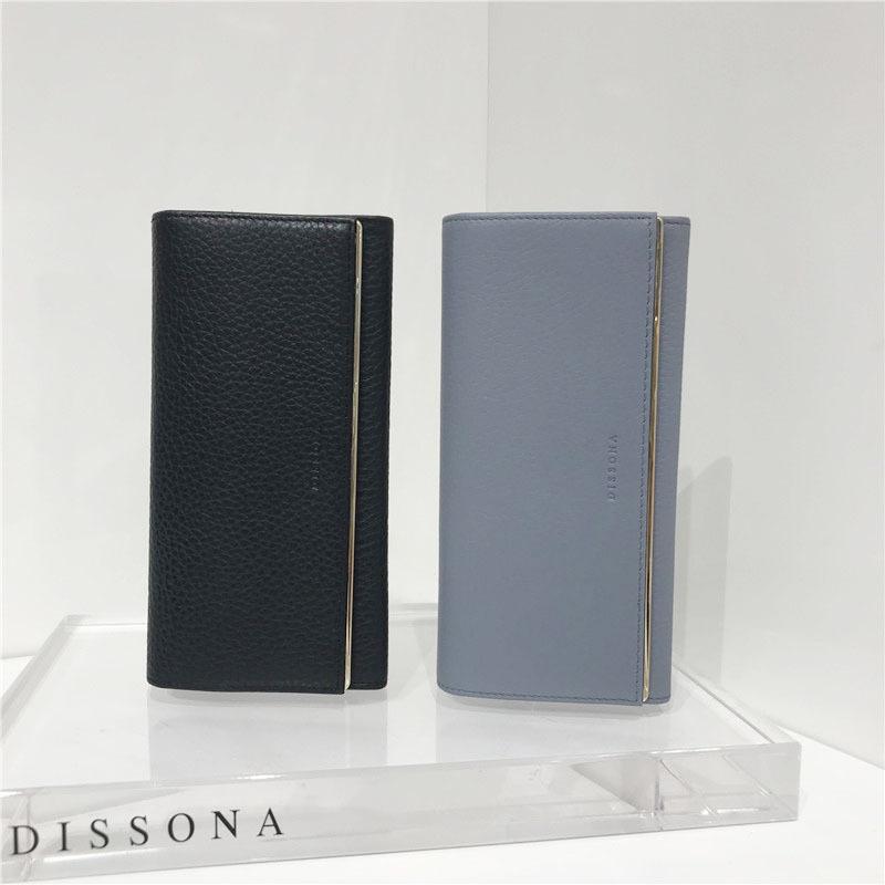 迪桑娜DISSONA 经典款 荔枝纹 牛皮钱包 8161C24120N04 C00