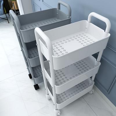 小推车置物架落地厨房浴室移动零食卫生间多层卧室床头收纳储物架