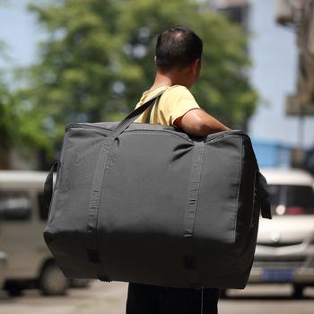 特大加厚搬家袋牛津布帆布防水行李袋大号编织袋子航空托运打包袋