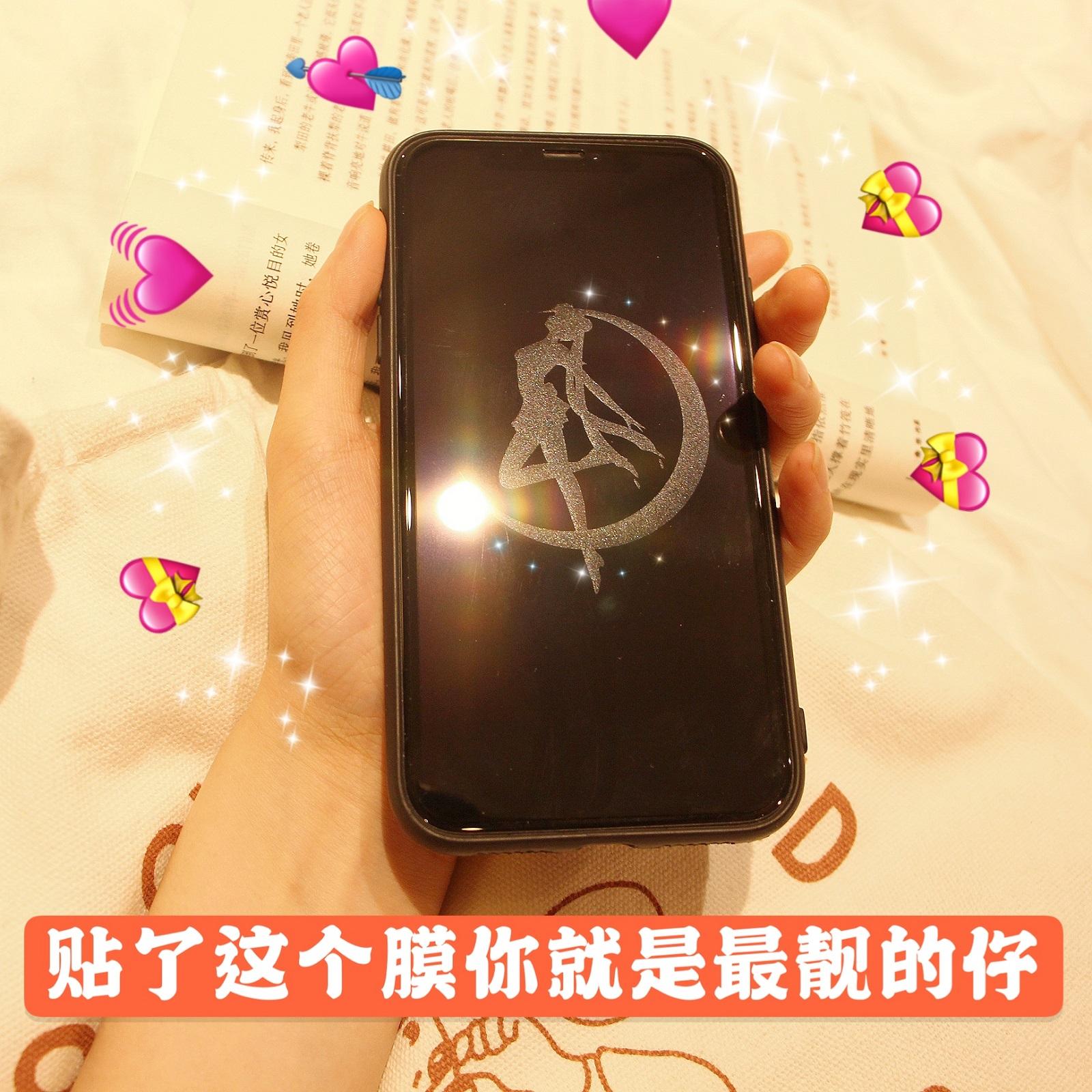 有带隐身图案的苹果11息影iphonexs美少女手机x膜8plus卡通7p钢化