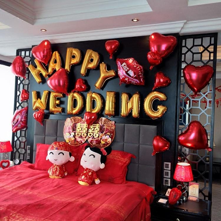 床上装饰用品布置创意浪漫表白布置宾馆房间求婚现场婚房ins风