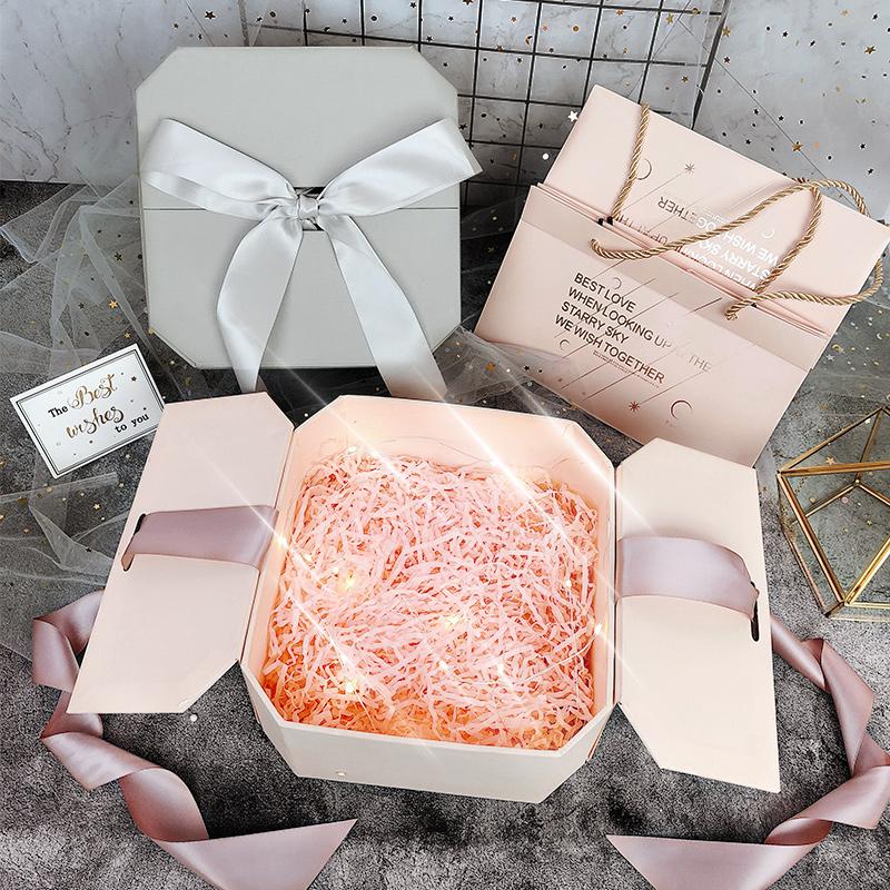 买三送一网红礼盒包装盒ins风少女心礼品盒