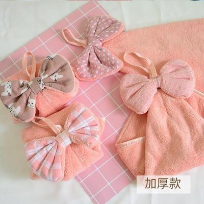5条擦手巾挂式可爱抹手帕儿童小家用加大厚厨房卫生间插擦手毛巾