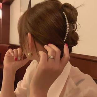 珍珠髮夾韓國ins網紅2020年新款夾子頭飾邊夾少女後腦勺抓夾發抓