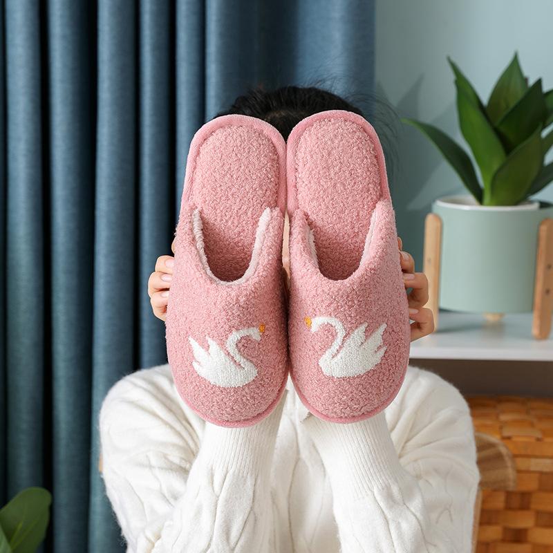 棉拖鞋女室内可爱毛绒情侣家居拖鞋冬天家用保暖卡通男棉拖秋冬季