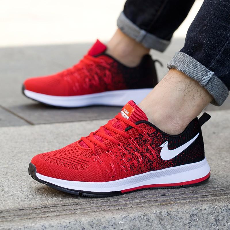 恩施耐克男鞋初高中学生跑步鞋气垫青少年运动网鞋品牌飞织休闲鞋