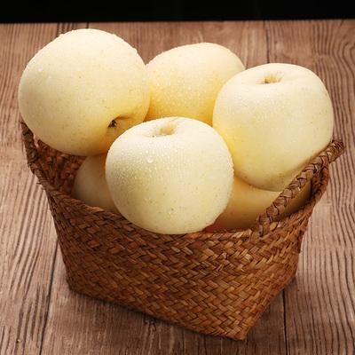 正宗山东烟台黄金奶油富士苹果新鲜5斤非黄元帅水果生鲜整箱包邮