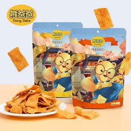 熊爸爸手工大米锅巴襄阳特产手工锅巴108g*6袋混合口味休闲小零食图片