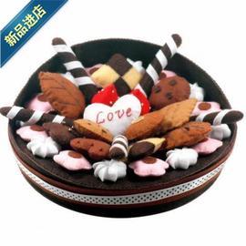 【布艺蛋糕】蛋糕摆件不织布手工材料包亲子U制作装饰品新图片