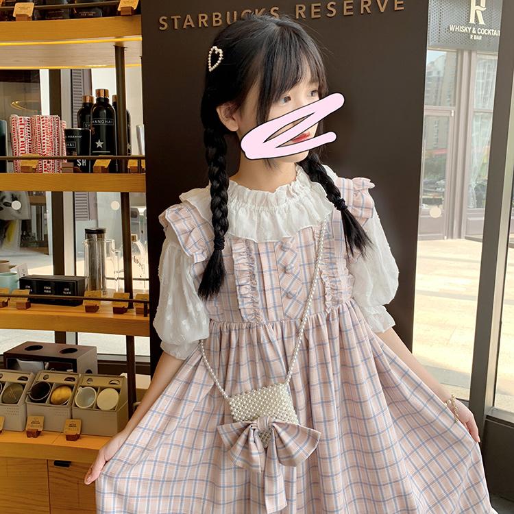 酱果自制软妹可爱高腰格子大摆JSK背心Lolita洋装连衣裙背带长裙满99元可用5元优惠券