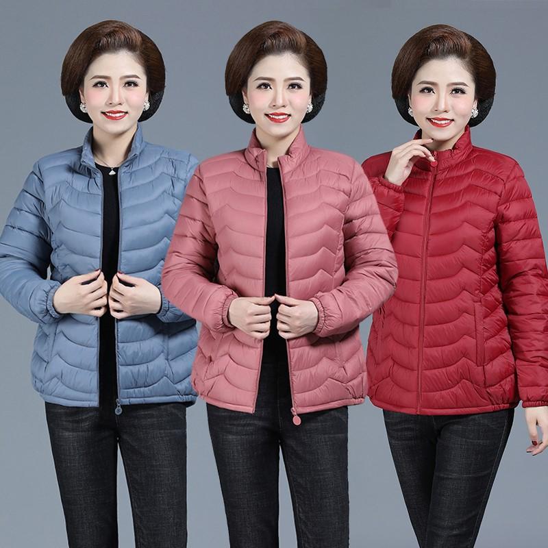 中老年女装轻薄小棉衣短款羽绒棉服中年妈妈装秋冬大码外套棉袄