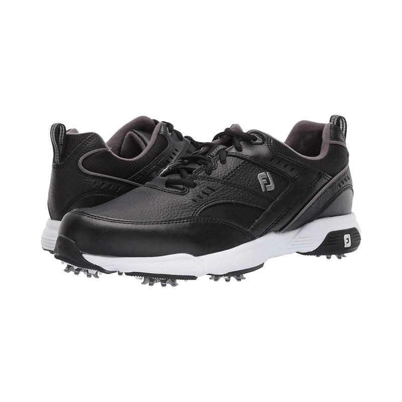 Genuine Footjoy mens Black Leather anti slip and wear resistant sports style golf shoes