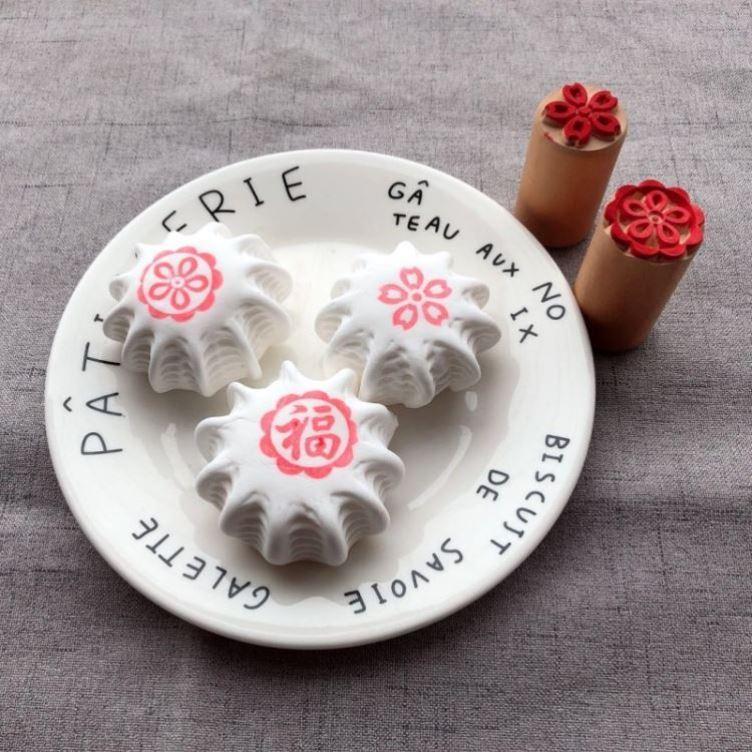 木质梨木凸印喜馒头面食糕点酥皮点心印章饽饽苏式月饼印烘焙模具