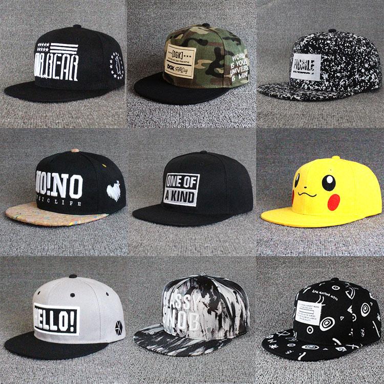 魅性中国有嘻哈鸭舌帽子男女青年学生韩版街头潮人百搭潮流平沿帽