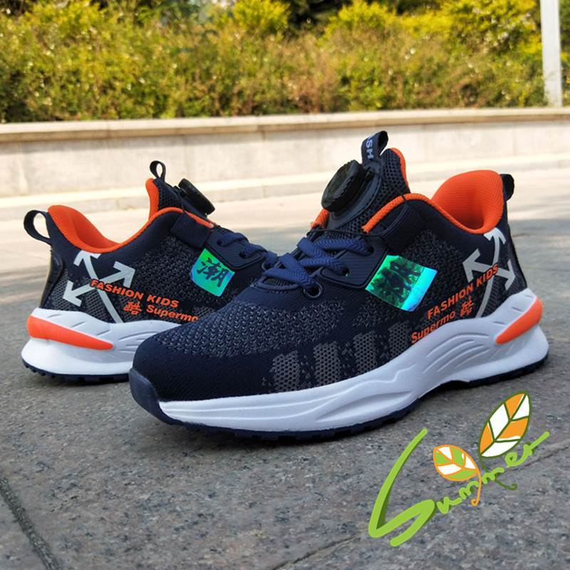 Sports shoes childrens shoes womens autumn and winter 2019 middle and large childrens warm Plush boys shoes boa knob two cotton shoes