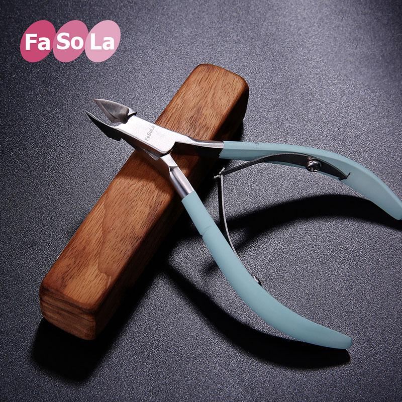 日本Fasola不锈钢指甲剪斜口指甲钳甲沟专用指甲刀去死皮修脚美甲
