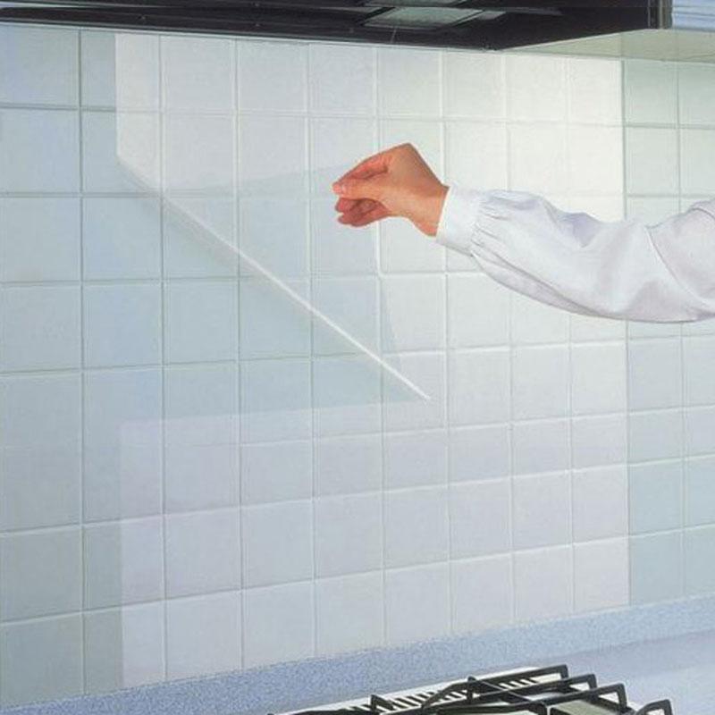 Япония кухня масло наклейки высокотемпературные кухня тайвань керамическая плитка наклейки для стен самоклеящийся фольга ламповая копоть паста водонепроницаемый прозрачный стена бумага