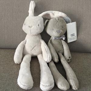 英国ins兔子 哄宝宝睡眠兔玩偶新生婴儿可啃咬布艺毛绒安抚巾玩具