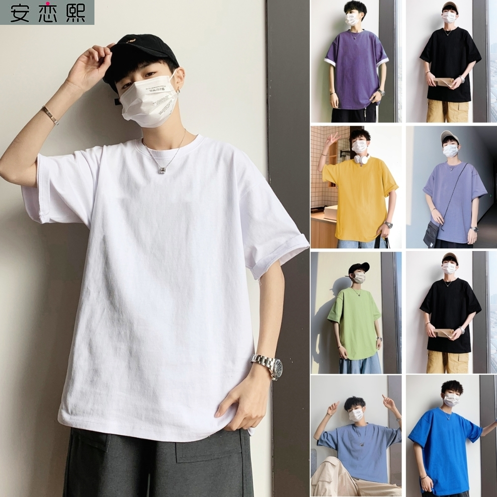 Men and women wear white T-shirt short sleeve high school entrance examination wear clothes blank T-shirt big white Tixu no words and no pattern
