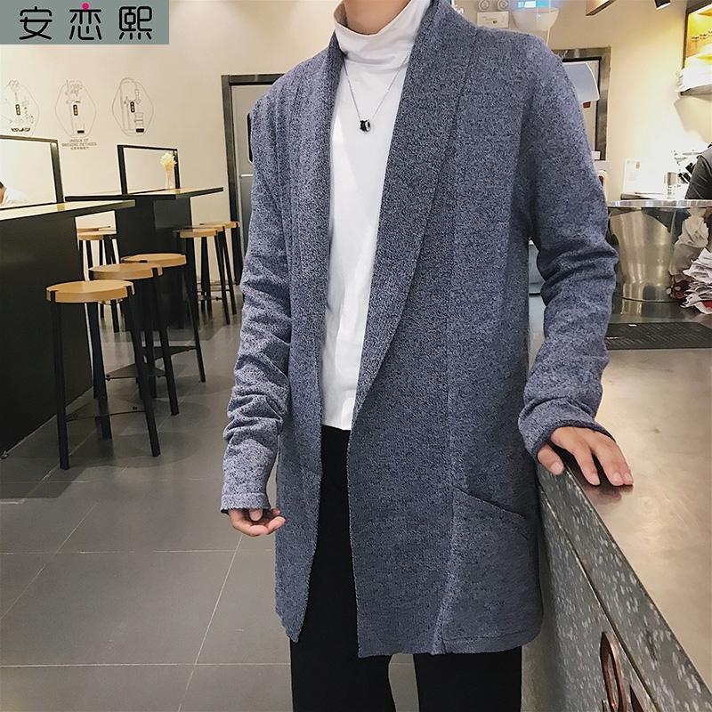 Medium and long sweater coat mens cardigan sweater and sweater