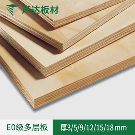 声达板材多层板木工板e0实木橱柜衣柜家具阻燃胶合板五合板九厘板图片