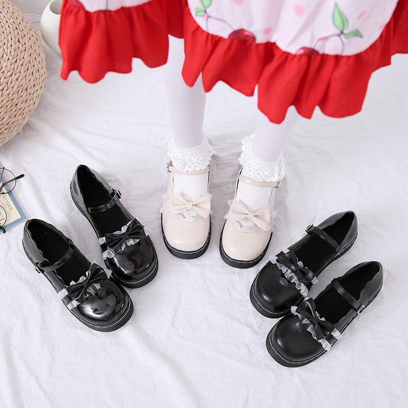 梅露露原创新款日系可爱小皮鞋lolita鞋低跟浅口洛丽塔鞋学生鞋