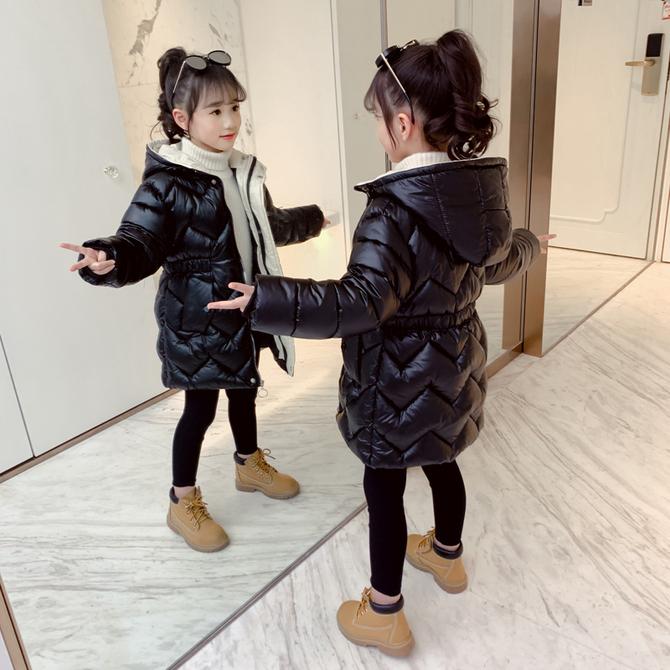 外套冬季 棉衣2020年新 棉袄中长款 洋气加厚 款 儿童羽绒棉服 女童冬装