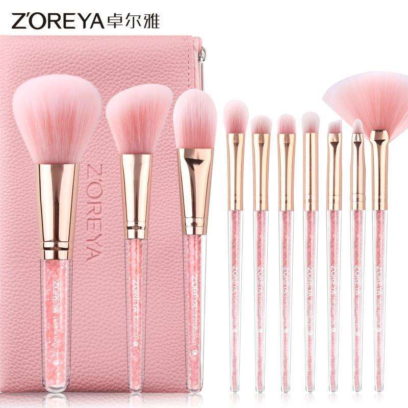 10 makeup brush sets, makeup tools, brush foundation, brush, eye shadow, brush, lip brush, eyebrow brush, nose shadow brush.