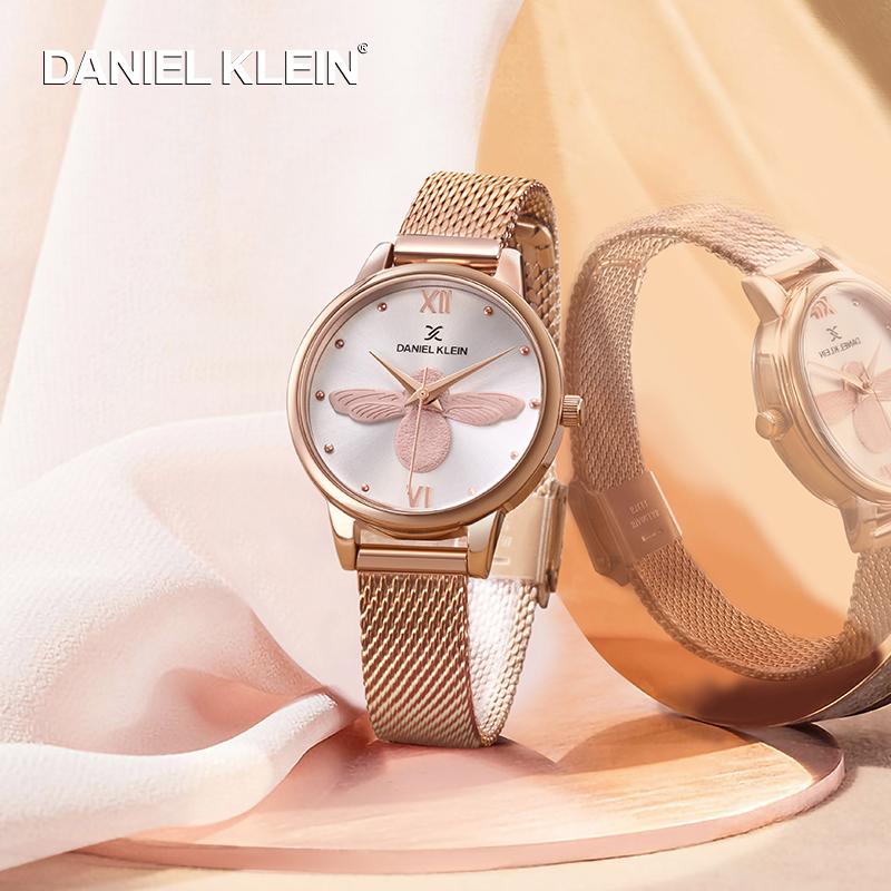 DanielKlein进口女士手表dk小蜜蜂dw简约礼物石英腕表ob小众手表(非品牌)