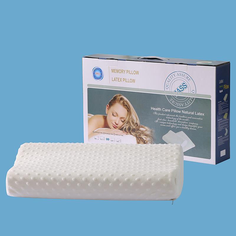 厂家批发记忆枕泰国天然乳胶护颈椎太空枕芯 国庆促销5折买一得二