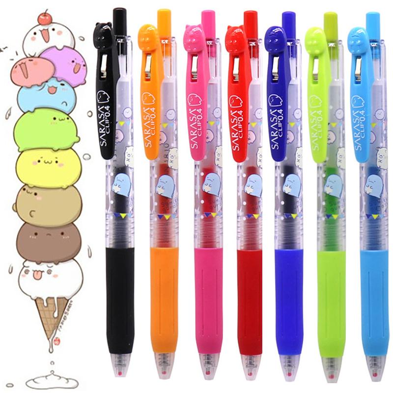 日本斑马ZEBRA JJ15角落生物限定款0.5mm中性笔SARASA彩色按动式学生考试用中性笔水笔0.4mm
