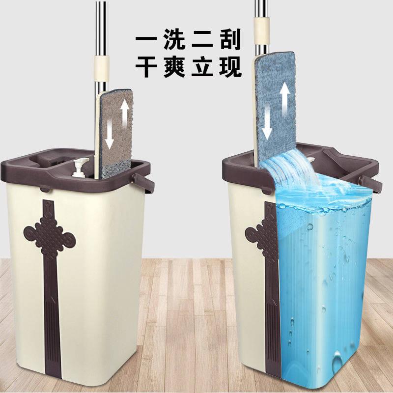 超省力免手洗吸水家用大号客厅平板拖把桶墩布自动懒人抖音神器