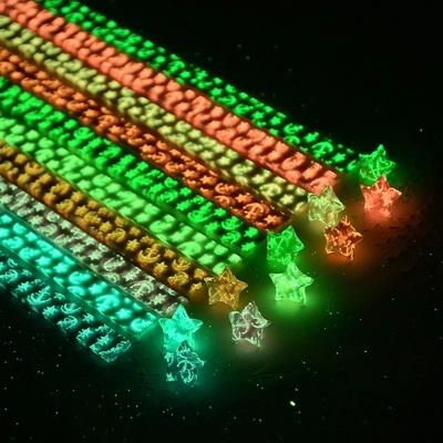 夜光星星折纸折叠许愿星荧光DIY礼物折星星的纸学生手工彩纸材料