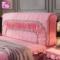 公主粉色加厚床头套罩全包款床头罩欧式软包布艺皮床防尘罩1.8m床