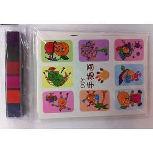 。绘画染料手指画颜料儿童可水洗宝宝画册水彩绘画画涂料水粉套装